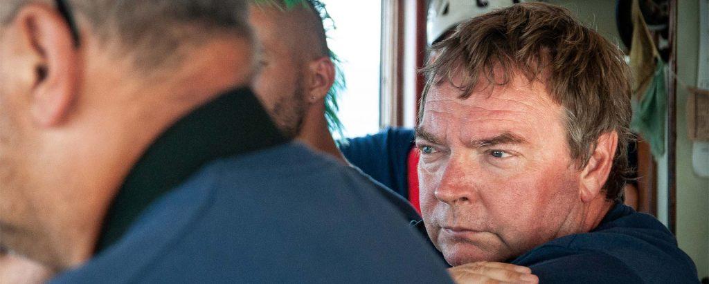 Claus-Peter Rensch auf dem Schiff